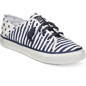 Sperry Womens Seacoast Isle Painted Stripe Sneaker